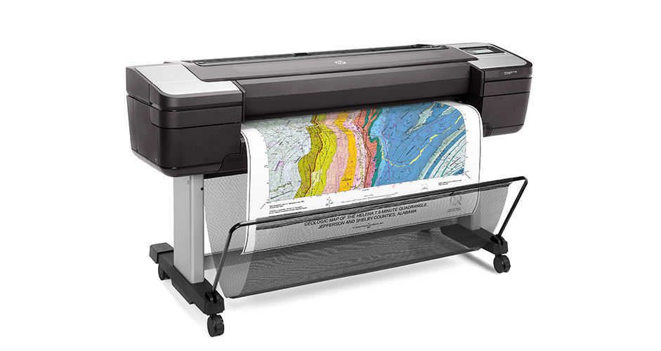 "HP Designjet T1700 44"" Postscript Dual Roll Printer"