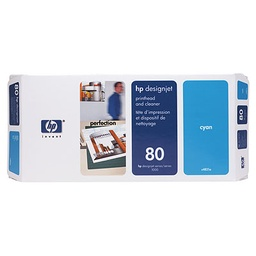 [C4821A] HP 80 Cyan Printhead/Cleaner
