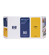 [C4848A] HP 80 Yellow 350ml Ink Cartridge