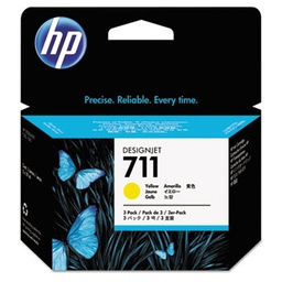 [CZ136A] HP 711 Yellow 29 ml 3 pack ink cartridges
