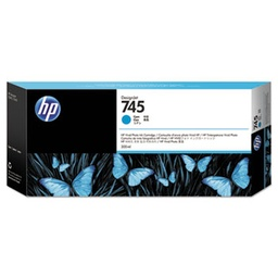[F9K03A] HP 745 300ml Cyan Ink Cartridge