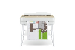 "[5HB12A] HP DesignJet Studio Wood Large Format Wireless Plotter Printer - 24"", with High-Tech Wood Design"