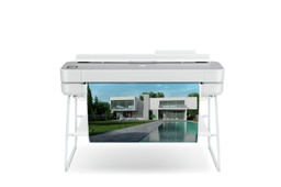 "[5HB14C] HP DesignJet Studio Steel Top Large Format Wireless Plotter Printer - 36"", with High-Tech Design"